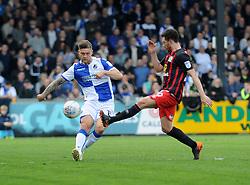 James Clarke of Bristol Rovers clears the ball upfield - Mandatory by-line: Neil Brookman/JMP - 14/04/2018 - FOOTBALL - Memorial Stadium - Bristol, England - Bristol Rovers v Blackburn Rovers - Sky Bet League One