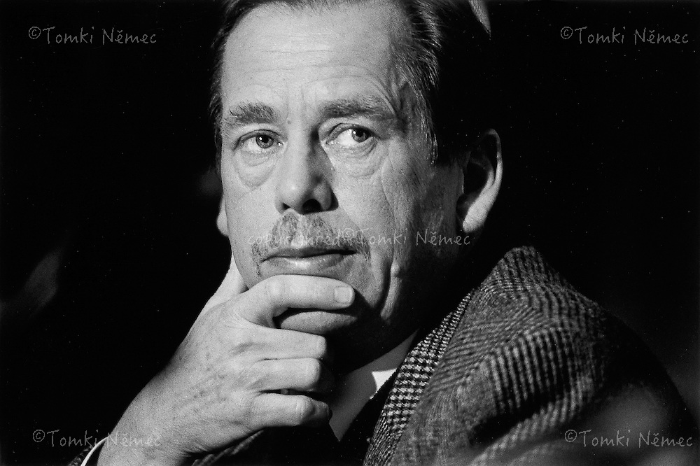 Brno, 4 December 1991 - Villa Tugendhat .Vaclav Havel had taken part in Government budget talks.