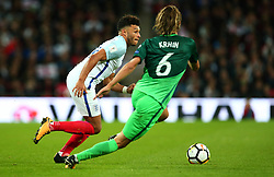 Alex Oxlade-Chamberlain of England takes on Rene Krhin of Slovenia - Mandatory by-line: Robbie Stephenson/JMP - 05/10/2017 - FOOTBALL - Wembley Stadium - London, United Kingdom - England v Slovenia - World Cup qualifier