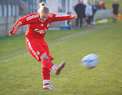 SKELMERSDALE, ENGLAND - Sunday, December 14, 2008: Liverpool's Shelley James during the Women's FA Premier League match against Birmingham City at the Ashley Travel Stadium. (Photo by Dr. Gwyneth Tyrer/Propaganda)