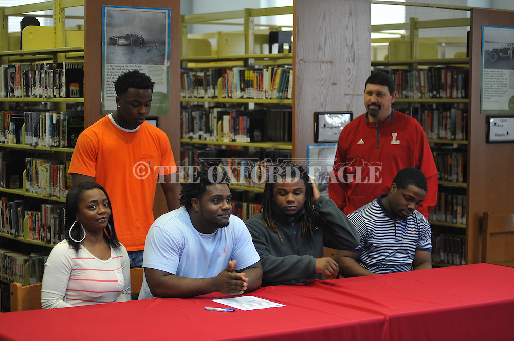 Lafayette High's Keontre Toles attends a National Signing Day event at Lafayette High School in Oxford, Miss. on Wednesday, February 3, 2016.