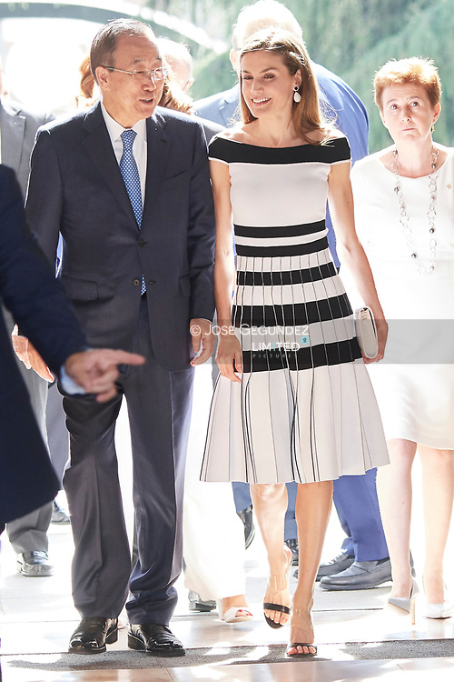 Queen Letizia of Spain attended UNICEF Awards 2017 at CSIC headquaters on June 13, 2017 in Madrid, Spain.