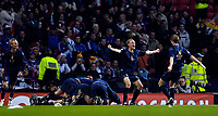 Photo: Jed Wee.<br />Scotland v France. UEFA European Championships 2008 Qualifying. 07/10/2006.<br /><br />Scotland's Darren Fletcher (7) joins in the celebrations after their winning goal.