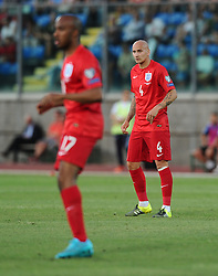 Jonjo Shelvey of England (Swansea City) (right) and Fabian Delph of England (Manchester City) (left)  - Mandatory byline: Joe Meredith/JMP - 07966386802 - 05/09/2015 - FOOTBALL- INTERNATIONAL - San Marino Stadium - Serravalle - San Marino v England - UEFA EURO Qualifers Group Stage