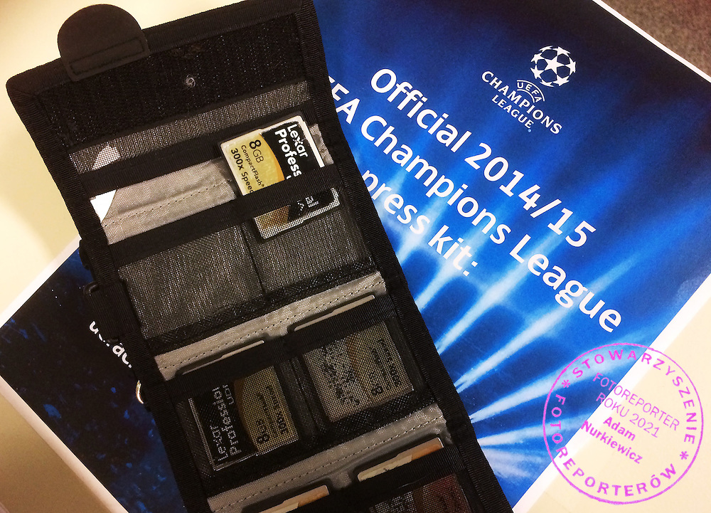 Compact Flash Lexar cards during the 2014/15 UEFA Champions League Final between Juventus and FC Barcelona at Olympiastadion on June 6, 2015 in Berlin, Germany.<br /> Germany, Berlin, June 6, 2015<br /> <br /> Picture also available in RAW (NEF) or TIFF format on special request.<br /> <br /> For editorial use only. Any commercial or promotional use requires permission.<br /> <br /> Adam Nurkiewicz declares that he has no rights to the image of people at the photographs of his authorship.<br /> <br /> Mandatory credit:<br /> Photo by &copy; Adam Nurkiewicz / Mediasport