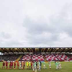 Aberdeen v Celtic, SPrem, 25th February 2018<br /> <br /> Aberdeen v Celtic, SPrem, 25th February 2018 &copy; Scott Cameron Baxter | SportPix.org.uk<br /> <br /> Display at Pittodrie as there players walk onto the pitch.