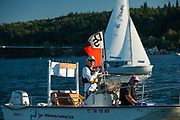 WSC dinghy fleet racing night on the Willamette River, Wednesday 16 August 2017, Willamette Sailing Club, Portland, Oregon