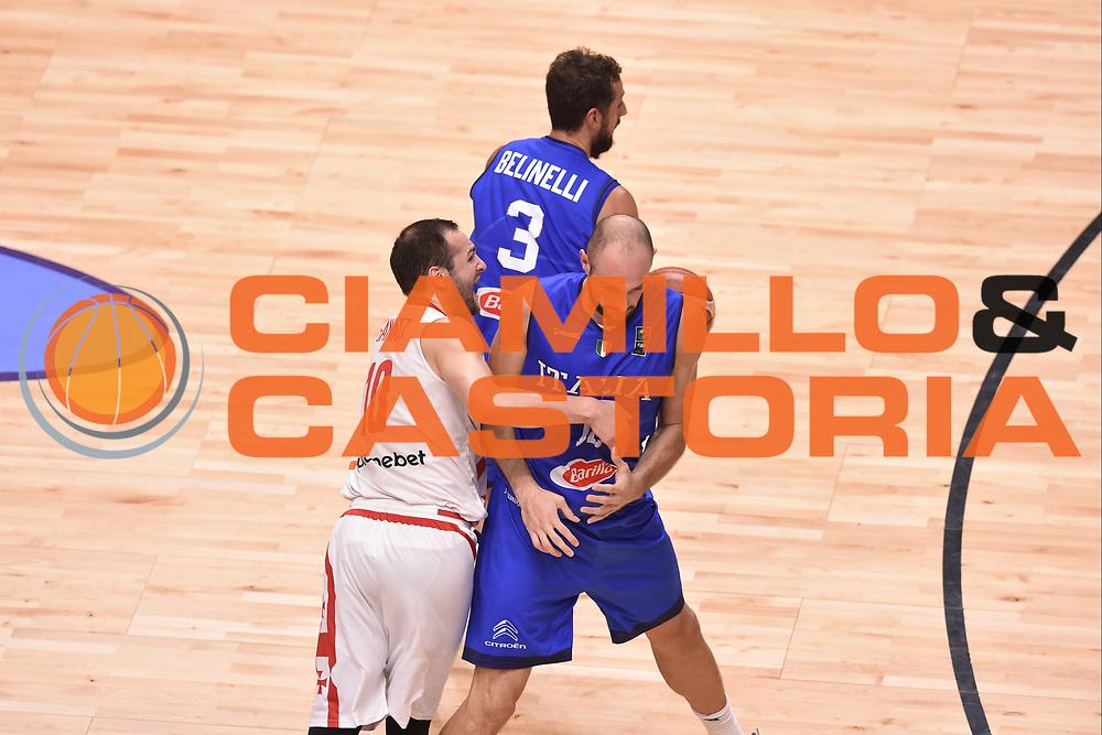 Marco Cusin<br /> Nazionale Italiana Maschile Senior<br /> Eurobasket 2017 - Group Phase<br /> Georgia  Italia Georgia Italy<br /> FIP 2017<br /> Tel Aviv, 06/09/2017<br /> Foto Ciamillo - Castoria/ GiulioCiamillo