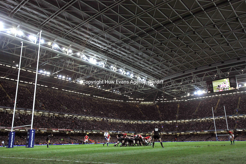 07.11.09... Wales v New Zealand, Invesco Perpetual Series<br /> Wales take on New Zealand at the Millennium Stadium<br /> &copy;Huw Evans Agency Ltd, Cardiff