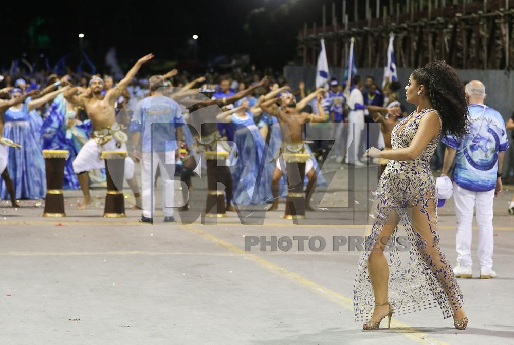 SAO PAULO, SP, 13.01.2018 - CARNAVAL-SP - Ensaio técnico da escola de samba Rosas de Ouro para o Carnaval 2018, no Sambódromo do Anhembi em São Paulo (SP), neste sábado (13). (Foto: Paulo Guereta/Brazil Photo Press)