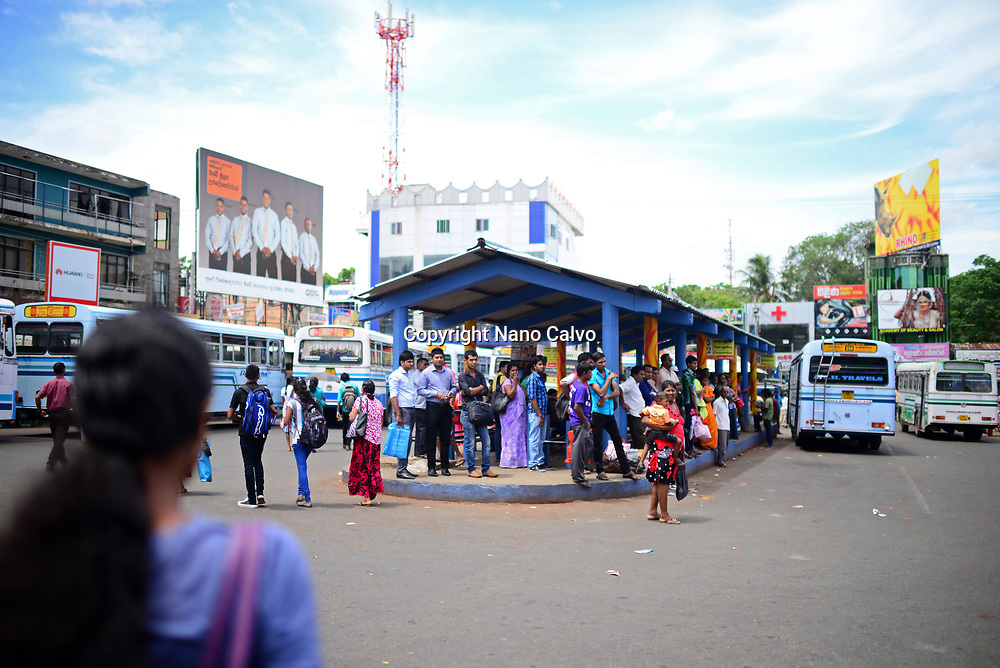 Embilipitiya bus station, Sri Lanka
