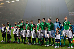 Team of Northern Ireland during EURO 2012 Qualifications game between National teams of Slovenia and Northern Ireland, on March 29, 2011, in Windsor Park Stadium, Belfast, Northern Ireland, United Kingdom. (Photo by Vid Ponikvar / Sportida)