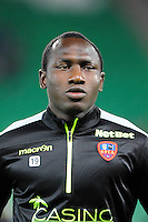 Jacques ZOUA - 17.10.2015 - Saint Etienne / Gazelec Ajaccio - 10eme journee de Ligue1<br /> Photo : Jean Paul Thomas / Icon Sport