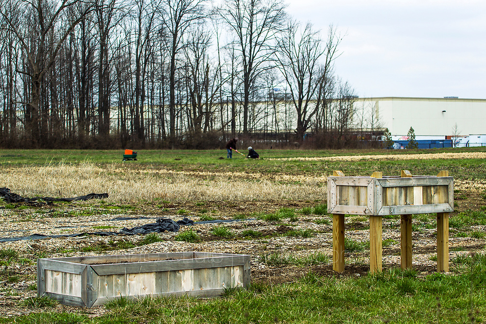 Lawrence Community Garden in Lawrence, Ind. on April 10, 2018.