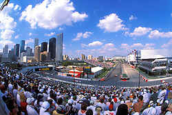 Stock photo of a view of the track of the Houston Texaco Grand Prix