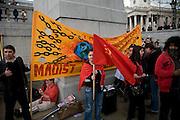 May Day march and rally at Trafalgar Square, May 1st, 2010 Maoist group banner