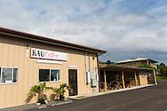 The Ka'u Coffee Mill store, in the district of Ka'u on the Big Island of Hawaii, USA, America