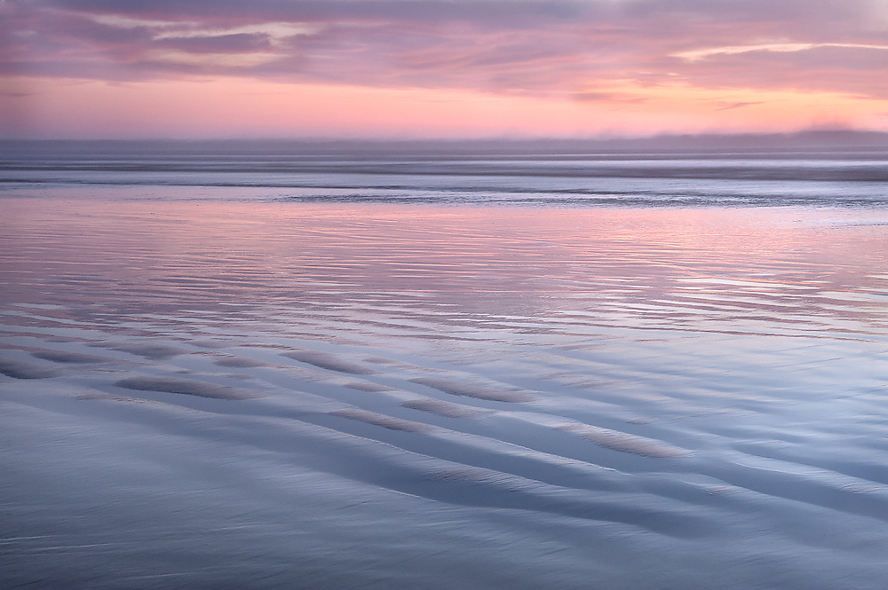 After the sun had set on another gorgeous day on<br /> Central California&rsquo;s coastline, the beach was bathed in<br /> the pink after glow. This helped to simplify the color<br /> palette into pastel hues.<br /> PASTEL DREAMS was made at Pismo Beach in Central<br /> California.
