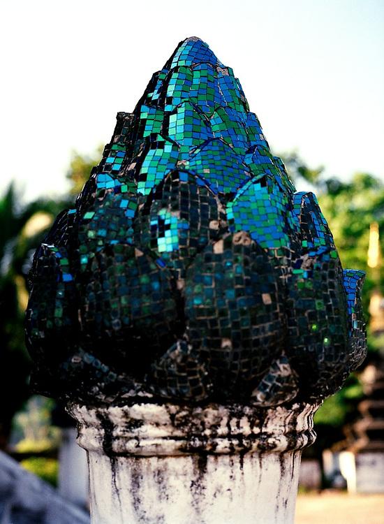 Lotus ornament at Wat Xieng Thong.