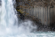 Aldeyjarfoss waterfall in northeast iceland