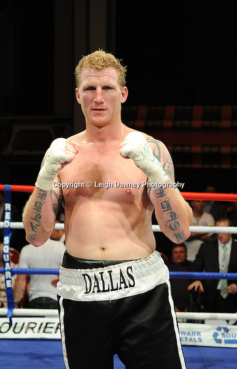 David Price defeats Tom Dallas (pictured) in the British Heavyweight Title Eliminator contest at Olympia, Liverpool on the 11th June 2011. Frank Maloney Promotions.Photo credit: Leigh Dawney 2011