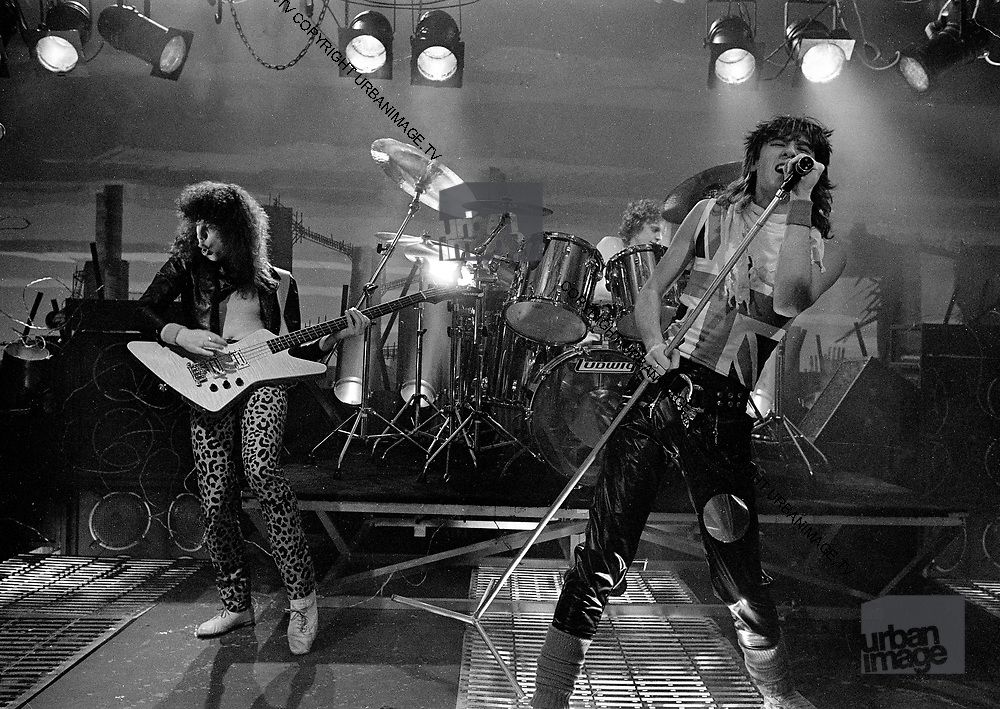 UK Heavy Metal Stars - Def Leppard - Live at video shoot 1983