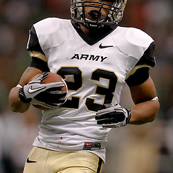 October 9, 2010; New Orleans, LA, USA;  Army Black Knights running back Malcolm Brown (23) runs against the Tulane Green Wave during the first half at the Louisiana Superdome.  Mandatory Credit: Derick E. Hingle
