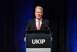 © Licensed to London News Pictures . 29/09/2017 . Torquay , UK . Cllr Julien Parrott speaks . UKIP is due to announce the winner of a leadership election which has the potential to split the party . Photo credit: Joel Goodman/LNP