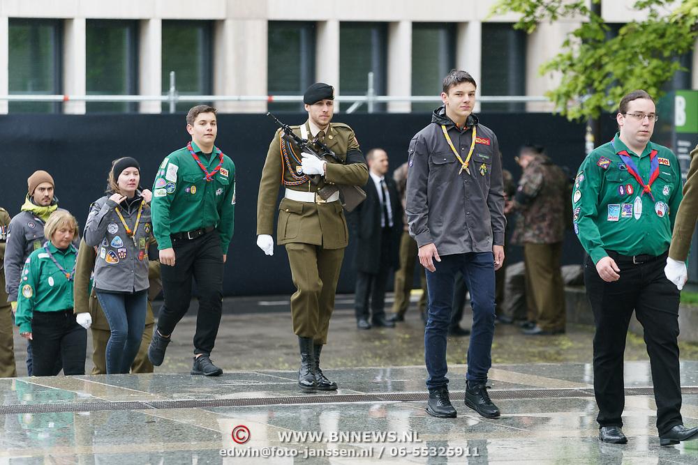 LUX/Luxemburg/20190504 -  Funeral<br /> of HRH Grand Duke Jean, Uitvaart Groothertog Jean, soldaat met scouting leden als erewacht