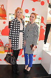 Left to right, SOPHIE SUMNER and ANGELA SCANLON at the Kate Spade NY hosted Chelsea Flower Show Tea Party held at Kate Spade, 2 Symons Street, London on 23rd May 2013.