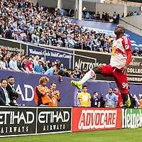 The New York Red Bulls take on NYCFC at Yankees Stadium in New York, NY on Saturday afternoon May 21, 2016.<br /> (Ben Solomon/New York Red Bulls)