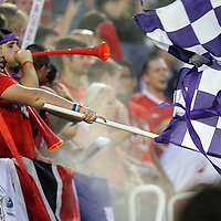 Orlando City fans celebrate during the United Soccer League Pro American Division Championship soccer match between the Richmond Kickers and the Orlando City Lions at the Florida Citrus Bowl on August 27, 2011 in Orlando, Florida. Orlando won the match 3-0 to advance to the USL Pro Final.  (AP Photo/Alex Menendez)