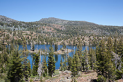 """Susie Lake 1"" - Photograph of Susie Lake along the Pacific Crest Trail in the Tahoe Desolation Wilderness."