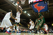 DALLAS, TX - JANUARY 15: Sterling Brown #3 of the SMU Mustangs shoots the ball against the South Florida Bulls on January 15, 2014 at Moody Coliseum in Dallas, Texas.  (Photo by Cooper Neill/Getty Images) *** Local Caption *** Sterling Brown