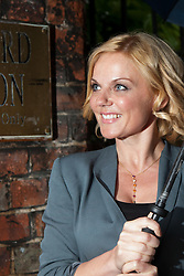 Geri Halliwell, former Spice Girl,  arrives to give an address at The Oxford Union. Oxford, Monday 11th June 2012.Photo by: Mark Chappell/i-Images