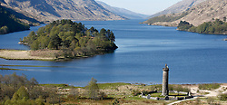 """Images taken on a beautiful sunny spring morning at Glenfinnan Monument.  Glenfinnan is a village in Lochaber area of the Highlands of Scotland. In 1745 The Jacobite Rising began when Prince Charles Edward Stuart (""""Bonnie Prince Charlie"""") raised his standard on the shores of Loch Shiel. Seventy years later, the 18 m (60 ft) Glenfinnan Monument, at the head of the loch, was erected to commemorate the historic event. .... (c) Stephen Lawson   Edinburgh Elite media"""