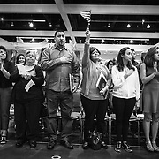 Over 6,600 Immigrants from more than 130 countries were sworn in as new citizens of the United States at one naturalization ceremony in Los Angeles. The judge urged them at the end of the ceremony to register to vote.