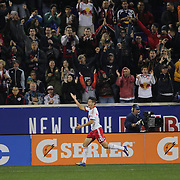 Ruben Bover Izquierdo, (center), New York Red Bulls, celebrates after scoring during the New York Red Bulls Vs Toronto FC, Major League Soccer regular season match at Red Bull Arena, Harrison, New Jersey. USA. 11th October 2014. Photo Tim Clayton