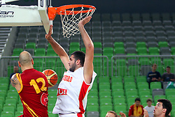 Pero Antic of Macedonia at friendly match between Macedonia and Montenegro for Adecco Cup 2011 as part of exhibition games before European Championship Lithuania on August 9, 2011, in SRC Stozice, Ljubljana, Slovenia. (Photo by Urban Urbanc / Sportida)