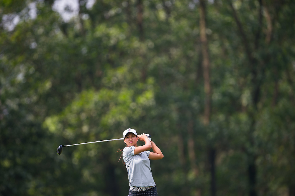 Amy Chu of Australia in action during day two of the 10th Faldo Series Asia Grand Final at Faldo course on 03 March of 2016 in Shenzhen, China. Photo by Xaume Olleros.