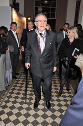HM KING CONSTANTINE OF GREECE at a fashion show featuring designs from Celia Kritharioti Spring/Summer 2012 collection held at One Mayfair, London on 20th March 2012.