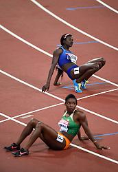 Tori Bowie of the USA looks on - Mandatory byline: Patrick Khachfe/JMP - 07966 386802 - 06/08/2017 - ATHLETICS - London Stadium - London, England - Women's 100m Final - IAAF World Championships