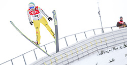 18.01.2014, Casino Arena, Seefeld, AUT, FIS Weltcup Nordische Kombination, Seefeld Triple, Skisprung, im Bild Fabian Riessle (GER) // Fabian Riessle (GER) during Ski Jumping at FIS Nordic Combined World Cup Triple at the Casino Arena in Seefeld, Austria on 2014/01/18. EXPA Pictures © 2014, PhotoCredit: EXPA/ JFK