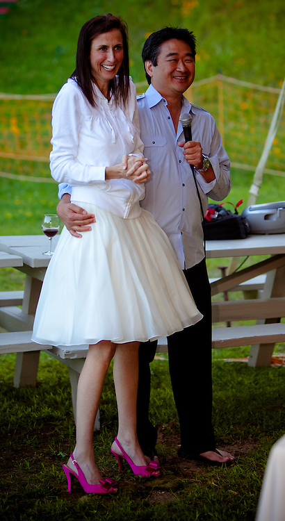 Courtenay Moore and Michael Gong Wedding Rehearsal Dinner at the Olympic Ski Jumping Complex in Lake Placid, N.Y. (Photo/Todd Bissonette - http://www.rtbphoto.com)
