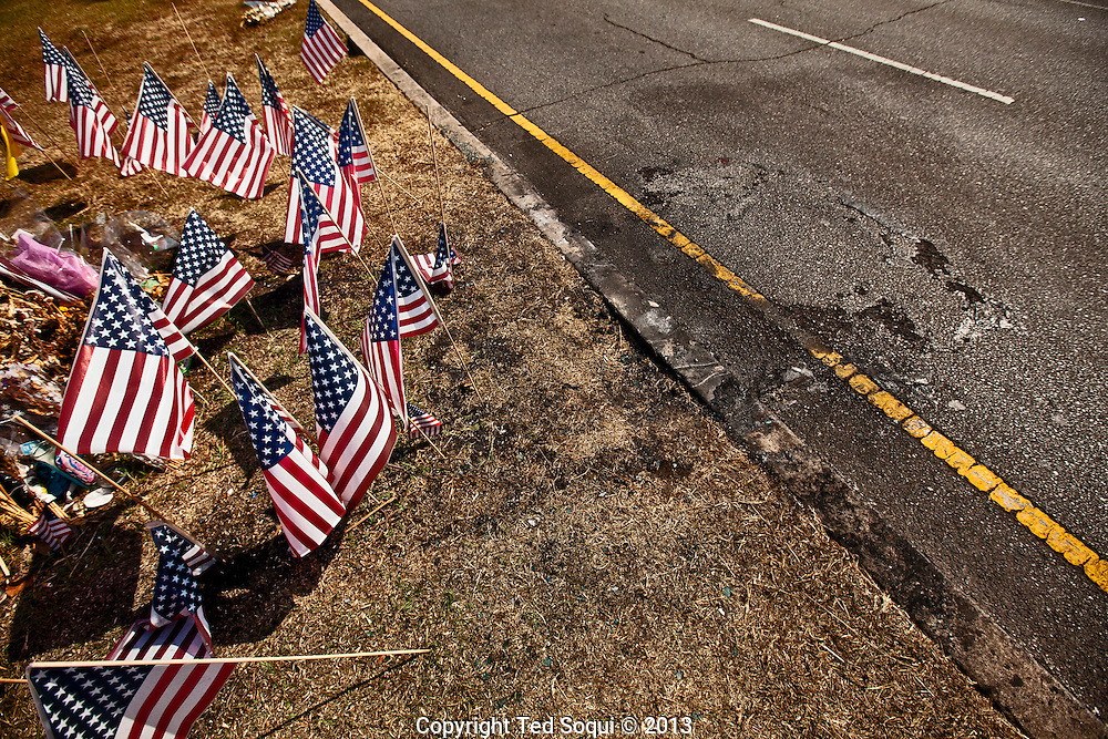Memorial on Highland Ave for Michael Hastings.