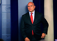 National Security Advisor General H.R. McMaster at a briefing in the White House Press Briefing Room on July 31, 2017<br />