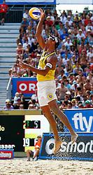 07.08.2011, Klagenfurt, Strandbad, AUT, Beachvolleyball World Tour Grand Slam 2011, im Bild Ricardo Santos (BRA), EXPA Pictures © 2011, PhotoCredit: EXPA/ Erwin Scheriau