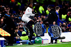 Renato Sanches of Lille jumps as he prepares to come on in the second half  - Mandatory by-line: Ryan Hiscott/JMP - 10/12/2019 - FOOTBALL - Stamford Bridge - London, England - Chelsea v Lille - UEFA Champions League group stage