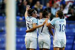 Jodie Taylor of England celebrates with team mates - Mandatory by-line: Matt McNulty/JMP - 19/09/2017 - FOOTBALL - Prenton Park - Birkenhead, United Kingdom - England v Russia - FIFA Women's World Cup Qualifier