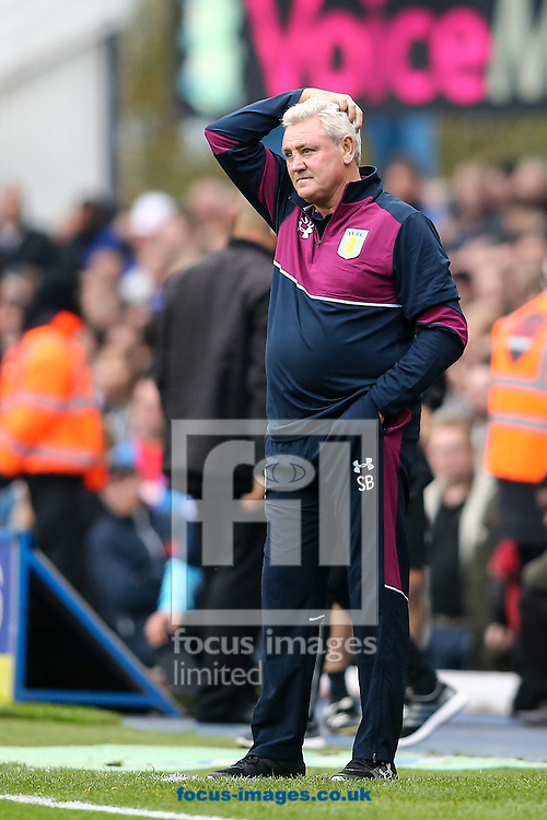Aston Villa manager Steve Bruce during the Sky Bet Championship match at St Andrews, Birmingham<br /> Picture by Andy Kearns/Focus Images Ltd 0781 864 4264<br /> 30/10/2016